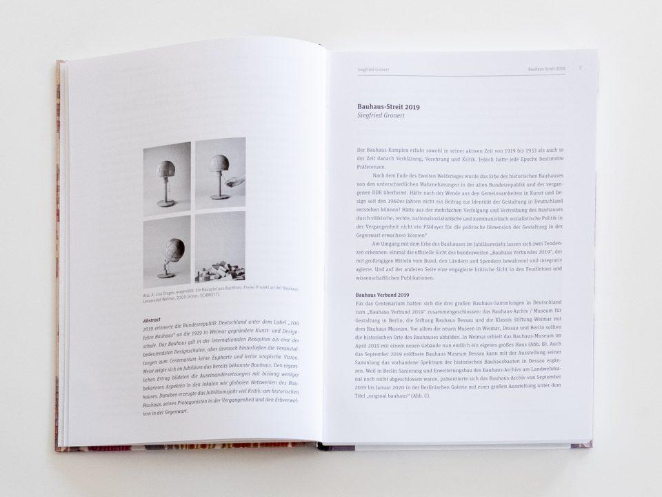 Im Zeichen des Bauhauses 1919–2019, Herausgegeben von Siegfried Gronert und Thilo Schwer für die Gesellschaft für Designgeschichte e.V. gfdg.org Beitrag Siegfried Gronert