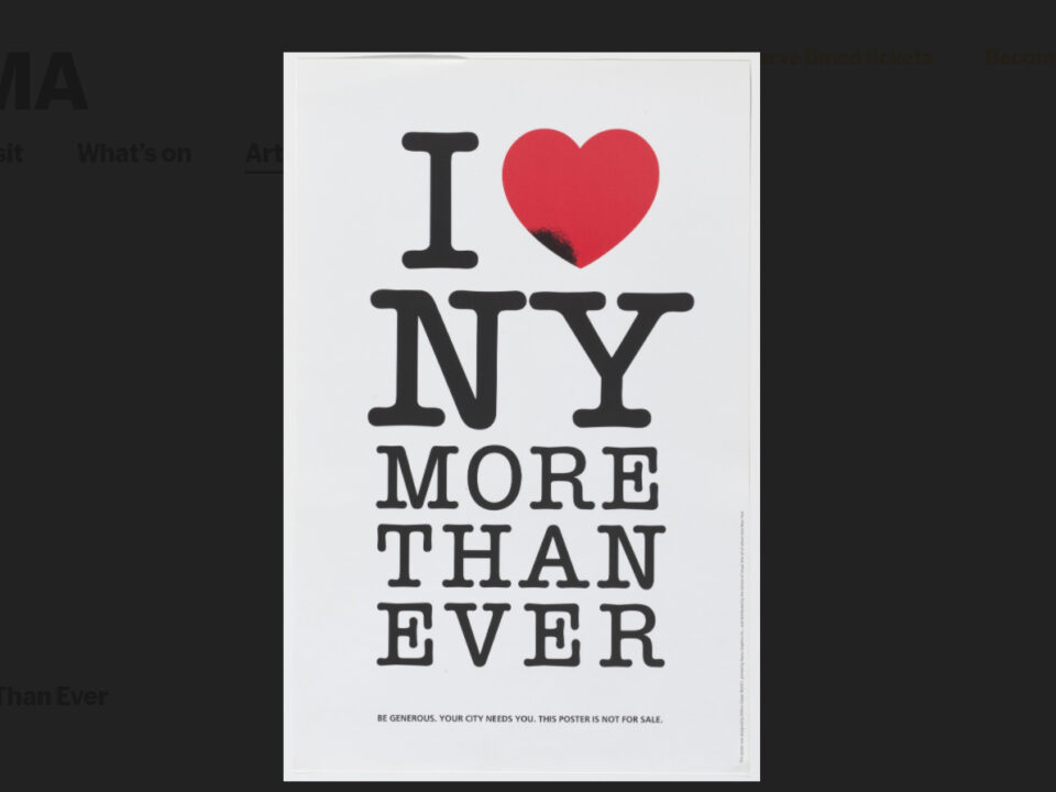 Zur Erinnerung: Milton Glaser: I ♥ NY MORE THAN EVER
