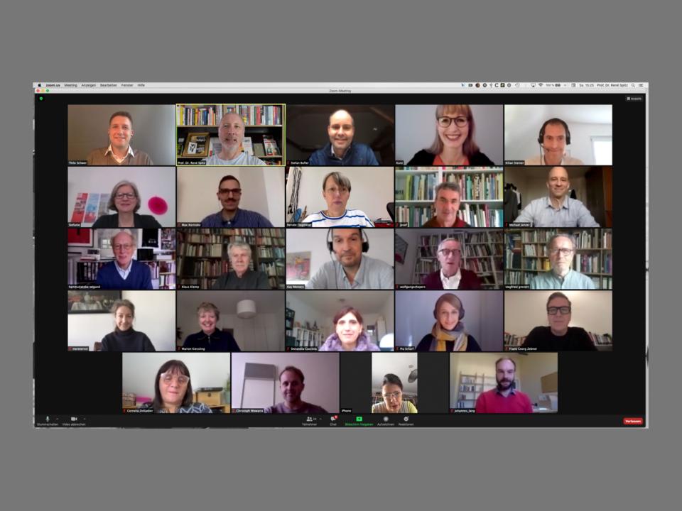 Screenshot der digitalen Mitgliederversammlung 2020 der Gesellschaft für Designgeschichte e.V.
