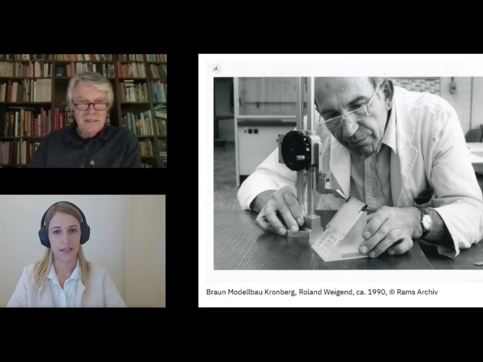 Designentscheidungen: Pia Scharf und Klaus Klemp diskutieren Designentscheidungen als Untersuchungsgegenstand in der Lehre